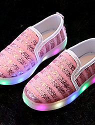 Da ragazza Sneakers Comoda Scarpe luminose Finta pelle Estate Autunno Sportivo Casual Footing Comoda Scarpe luminose Nastro a strappo LED