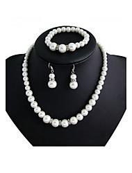cheap -Women's Jewelry Set Imitation Pearl Luxury Wedding Party Special Occasion Anniversary Birthday Imitation Pearl Rhinestone Alloy Round