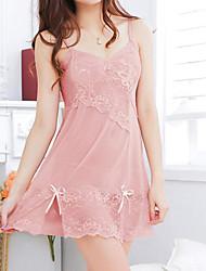 abordables -les vêtements de nuit fantaisie pour femmes& loungewear ultra sexy costumes de nuit, sexy solide-mince rose