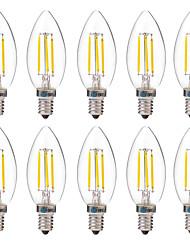 4W E14 LED Filament Bulbs C35 4 leds COB Decorative Warm White White 350lm 2700-3200 6000-6500K AC 220-240V