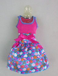cheap -Fashion Polka Dots Dress  For Barbie Doll For Girl's Doll Toy