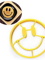 cheap -Silicone Crack A Smile Smiley Happy Face Egg Pancake Mold Shaper Pancake Rings Cooking Mould