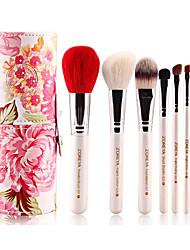 1set Makeup Brush Set Goat Hair Professional Full Coverage Wood Face