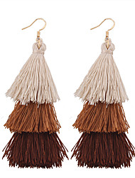 cheap -Women's Tassel / Bohemian Drop Earrings - Tassel / Vintage / Bohemian Blue / Pink / Khaki Irregular Earrings For Wedding / Anniversary /