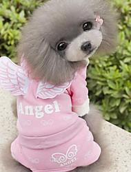 Chien Combinaison-pantalon Vêtements pour Chien Décontracté / Quotidien Ange et Diable Bleu Rose