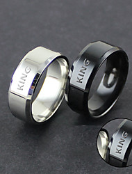 cheap -Europe and the United States steel ring manufacturers customized trend of men's double bevel ring smooth domineering sellers