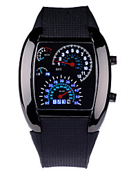 cheap -Dashboard LED Version Promotional Car Watch Sector Sports Men Wrist Aviation Led Watch