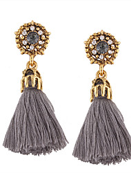 cheap -Women's Tassel Drop Earrings - Personalized, Tassel, Bohemian Black / Gray / Red For Wedding / Anniversary / Housewarming