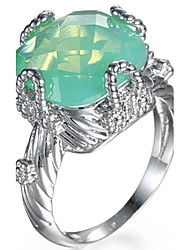 cheap -Ring Women's Euramerican Luxury Square Cut Imitation Emerald  Ring Daily Party  Movie Business Gift Jewelry