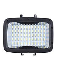Andoer 12W 3 Mode 5500K Fill-in LED Light Lamp Diving 40m w/ 2pcs 2000mAh 18650 Battery Detachable USB Port Mounting Base 3 Filter