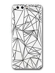 economico -Per huawei p10 p9 caso copertura trasparente modello copertura posteriore modello geometrico morbido tpu per huawei p10 più p9 lite p9 più