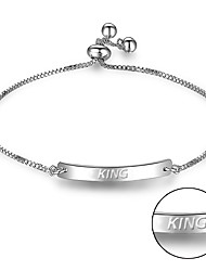 cheap -New foreign trade explosion can be laser lettering adjustable telescopic smooth female Bracelet