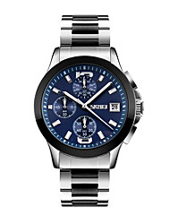 cheap -SKMEI Men's Wrist watch Dress Watch Japanese Quartz Calendar / date / day Water Resistant / Water Proof Stopwatch Stainless Steel Band