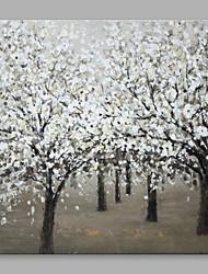 Dipinta a mano Astratto Orizzontale,Astratto Moderno/Contemporaneo Un Pannello Tela Hang-Dipinto ad olio For Decorazioni per la casa