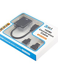preiswerte -VGA Adapter, VGA to HDMI 1.4 Mini HDMI HDMI Micro Adapter Male - Female 0.2m (0.65Ft)