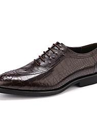 Недорогие -Муж. обувь Кожа Весна Осень Формальная обувь Свадебная обувь для Свадьба Офис и карьера Для вечеринки / ужина Черный Кофейный