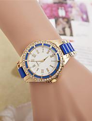 Women's Fashion Watch Wrist watch Quartz Rhinestone Alloy Plastic Band Casual Black White Blue Red Pink Rose