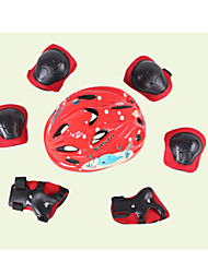 Kids' Protective Gear Knee Pads + Elbow Pads + Wrist Pads Skate Helmet for Cycling Ice Skating Skateboarding Roller Skates Shock Proof