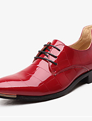 Men's Shoes TPU Spring Fall Formal Shoes Oxfords Rivet For Wedding Dress Office & Career Black Red Blue