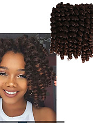 cheap -Crochet Braids Hair 8inch Bounce Jamaican Afro Fluffy Jumpy Wand Curls Kanekalon Mambo Twist 20roots/pack Ombre Jumpy Wand Curl Crochet Braid Hair