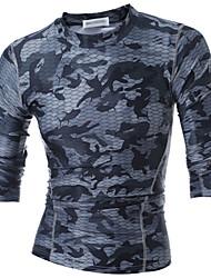 billige -Herre - camouflage Aktiv Sport T-shirt / Langærmet