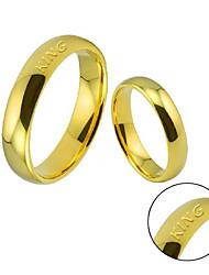 Atmospheric fashion lovers ring wedding ring net surface smooth circular ring spherical ring ring hot men and women