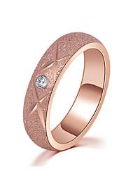 preiswerte -Damen Kubikzirkonia Roségold Ring - Kreisförmig Elegant Simple Style Rotgold Ring Für Hochzeit Jahrestag Party Verlobung Zeremonie
