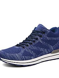 cheap -Running Shoes Men's Athletic Shoes Comfort Breathable Mesh Fabric Tulle Fall Winter Athletic Outdoor  Comfort Lace-up Flat Heel Blue Ruby Black