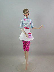 cheap -Fashion Outfit Chef Costume For Barbie Doll For Girl's Doll Toy