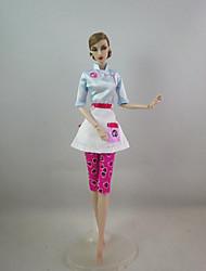 baratos Roupas para Barbies-Fofo Vestir Para Boneca Barbie Poliéster Vestido Para Menina de Boneca de Brinquedo