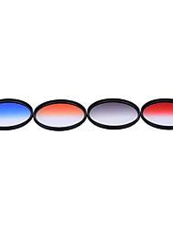Andoer professionale 77mm gnd graduato filtro set gnd4 (0,6) grigio azzurro arancione rosso graduato filtro densità neutrale