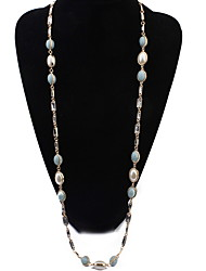 Strands Necklace Pearl Mix Colour Chain Long  Necklaces Rock Euramerican OL Jewelry For Women Daily Party Business Movie Gift Jewelry