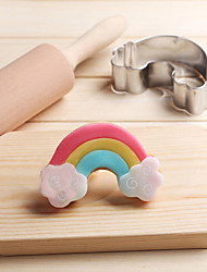 cheap -Rainbow Cloud Cookies Cutter Stainless Steel Biscuit Cake Mold Metal Kitchen Fondant Baking Tools