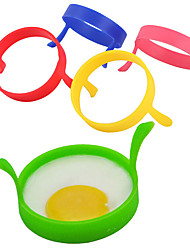 1Pcs Silicone Fried Frier Oven Poacher Pancake Egg Poach Ring Mould Kitchen(Random Color)