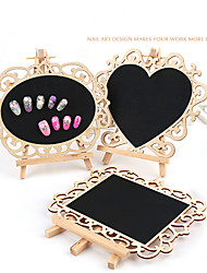 Pinpai Nail Art Works Retro Timber Table Nail Product Photo Frame Display Board Nail Art Kits Nail Art Manicure Tool Nail Art DIY