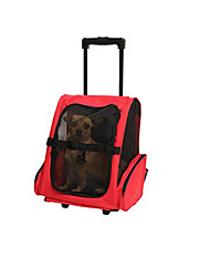 cheap -Cat Dog Carrier & Travel Backpack Pet Carrier Portable Breathable Solid Red Blue