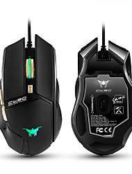 preiswerte -Cw90 3800 dpi verdrahtet Gaming Maus Mäuse 6 Tasten Design Atmung LED Farben für Gamer PC Mac