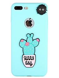 billige -Etui til apple iphone 7 plus 7 cover mønster bagcover case ord sætning blomst 3d tegneserie blød silikone 6s plus 6 plus 6 6s 5 5s