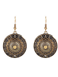 cheap -Women's Drop Earrings Jewelry Luxury Circular Classic DIY Sideways Simple Style Stretch Alloy Geometric Jewelry Special Occasion New Baby