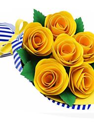abordables -Puzzles 3D Maquette en Papier Loisirs Créatifs en Papier Kit de Maquette Carré Roses 3D A Faire Soi-Même Papier cartonné Classique Unisexe