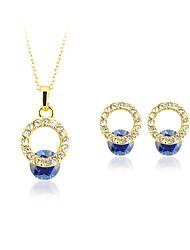 Per donna Collane con ciondolo Cristallo Perle finte Circolare Pendente Geometrico Vintage Regolabile Classico bigiotteria Argento