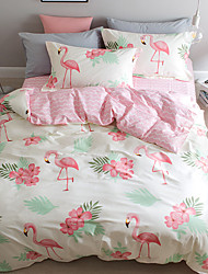 cheap -Duvet Cover Sets Animal 4 Piece Pure Cotton Reactive Print Pure Cotton (If Twin size, only 1 Sham or Pillowcase)