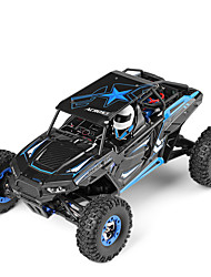 baratos -Carro com CR WLtoys 12428-B 2.4G Jipe (Fora de Estrada) / Rock Climbing Car / Off Road Car 1:12 Electrico Escovado 50 km/h KM / H
