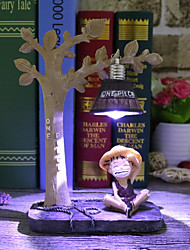 cheap -Creative night light Monkey D Luffy Anime the hand office dolls Tony Chopper home resin ornaments crafts