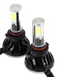 Kkmoon une paire de 40w 4000lm 9005 / h10 moulé par miroir phare antibrouillard 12v 24v voiture mise à niveau de conversion ampoule