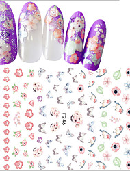 1pcs Nail Art 3D Flower Sticker Beautiful Flower Butterfly Lovely Bird Creative Design Nail Art DIY Beauty Tip Sweet Decoration F246