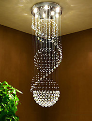 LED Crystal Ceiling Chandeliers Pendant Light Indoor Home Hanging Lighting Lamps Fixtures for Hotel Stairs
