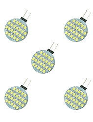 cheap -2.5W G4 LED Bi-pin Lights 24 leds SMD 2835 Warm White White 189lm 3000-3500/6000-6500K DC 12V