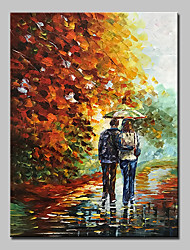 cheap -Hand-Painted Landscape Vertical, Abstract Modern Canvas Oil Painting Home Decoration One Panel