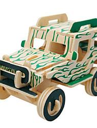 abordables -Puzzles 3D Puzzle Modèle en bois Avion Automatique Bâtiment Célèbre Architecture 3D A Faire Soi-Même Bois Classique 6 ans et plus